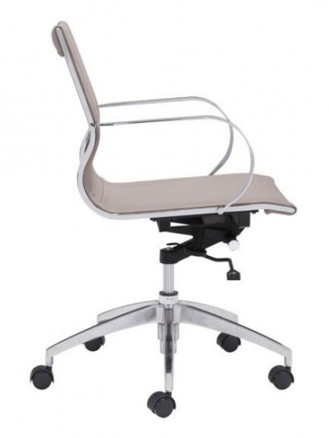 image mid back office chair taupe 2 461x614