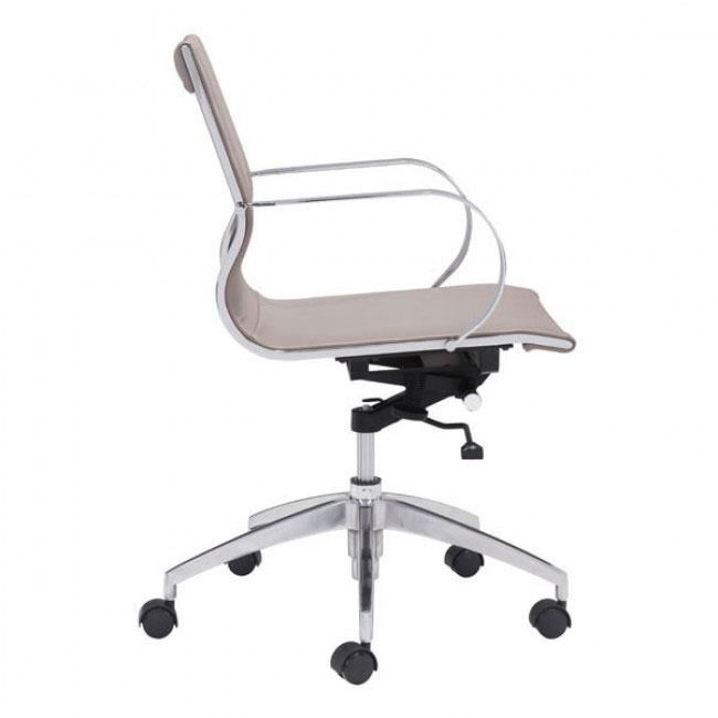image mid back office chair taupe 2