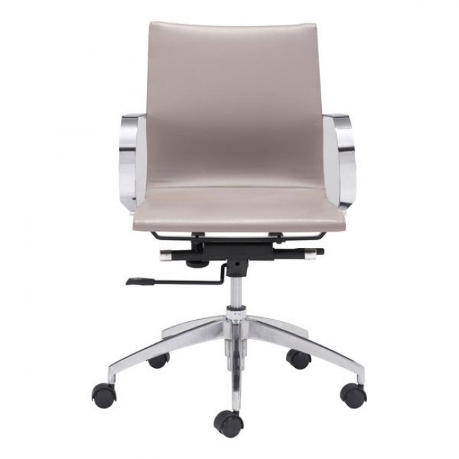 image mid back office chair taupe 3