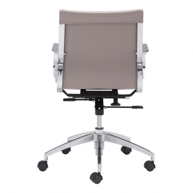 image mid back office chair taupe 4