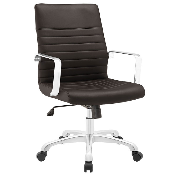 inspire mid back office chair brown 1