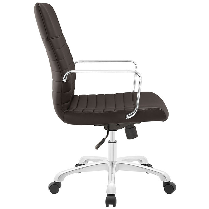 inspire mid back office chair brown 2