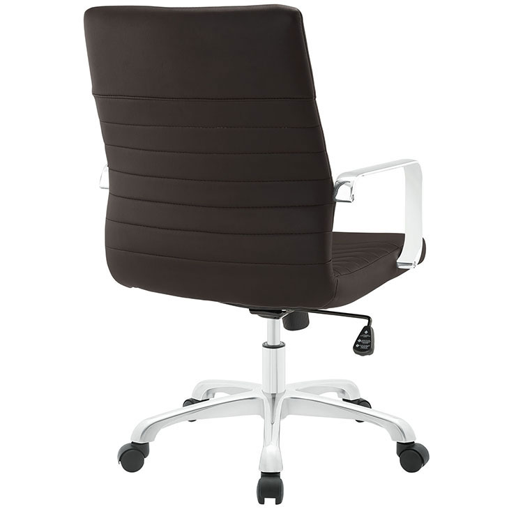 inspire mid back office chair brown 3