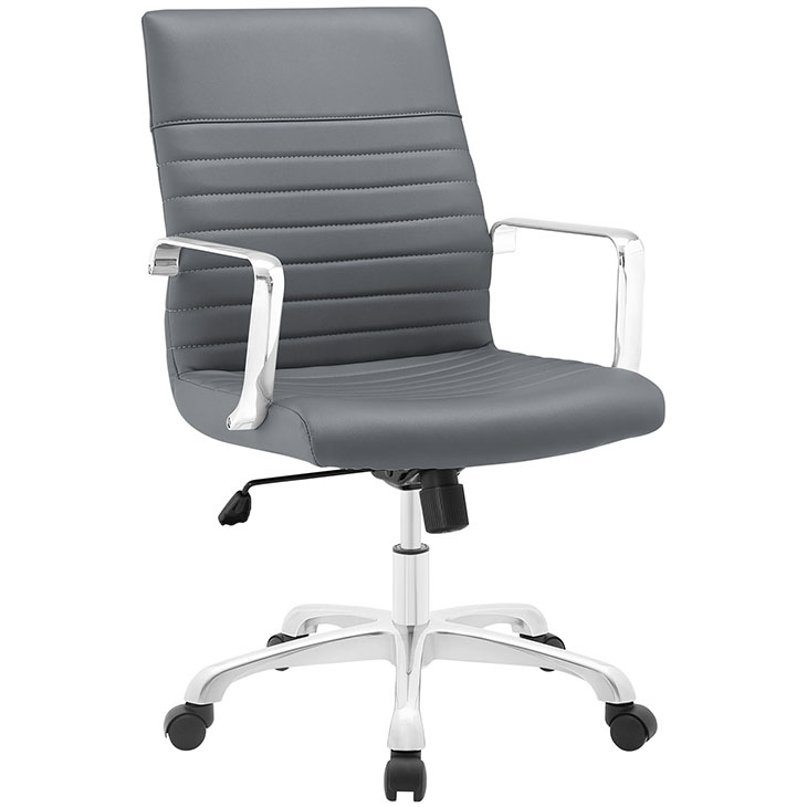 inspire mid back office chair gray 1