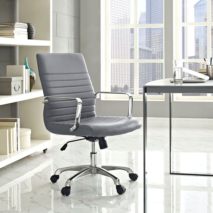 inspire mid back office chair gray 4