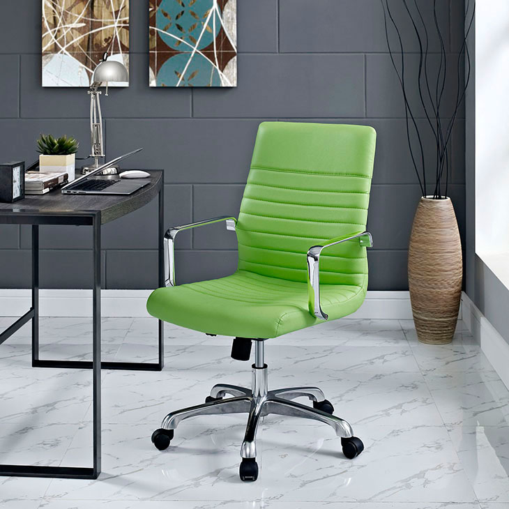 inspire mid back office chair green 4