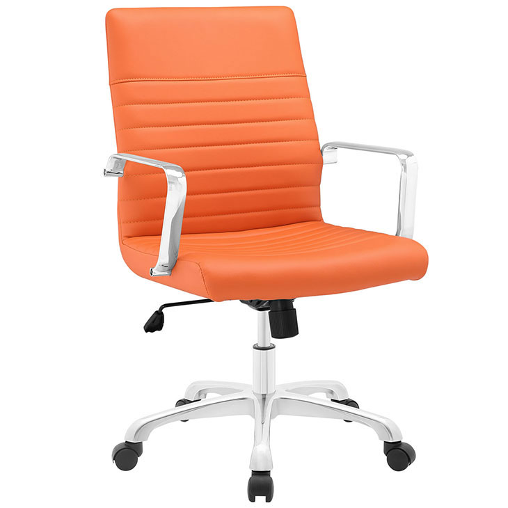 inspire mid back office chair orange 1