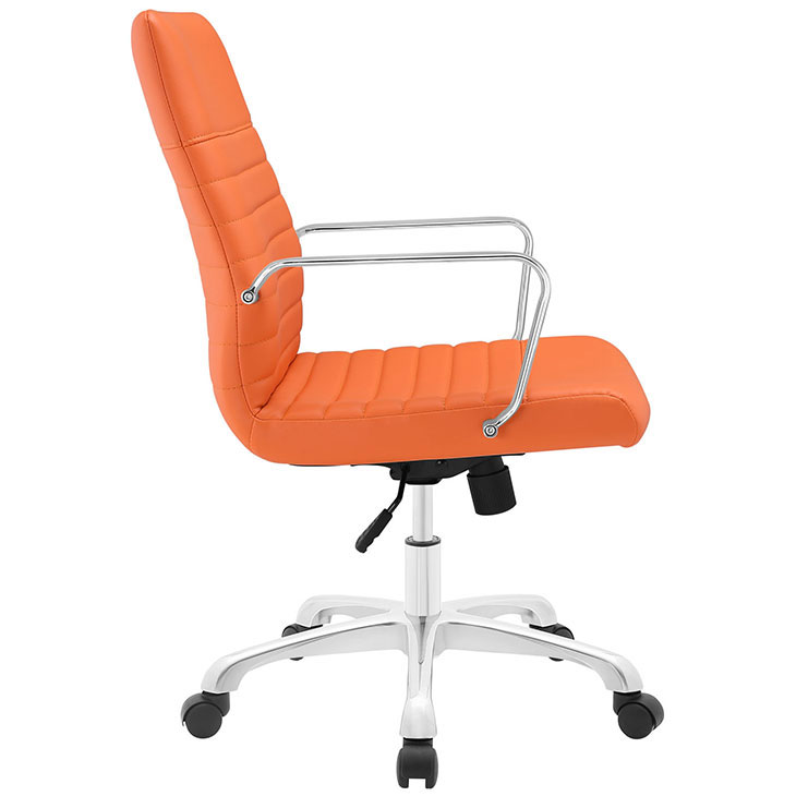 inspire mid back office chair orange 2