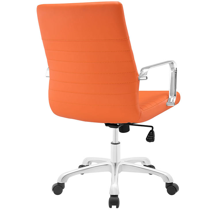 inspire mid back office chair orange 3