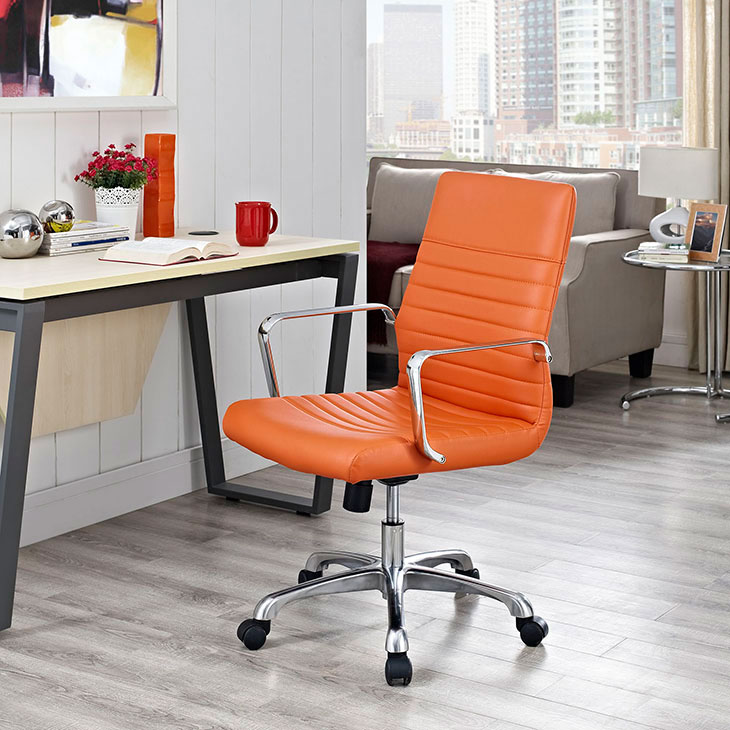 inspire mid back office chair orange 4