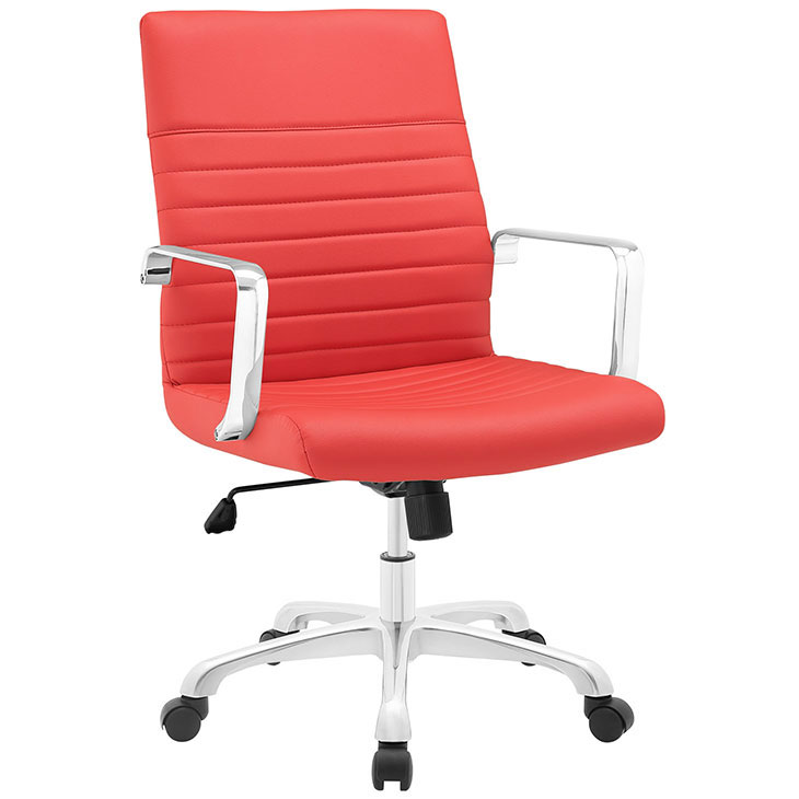 inspire mid back office chair red 1