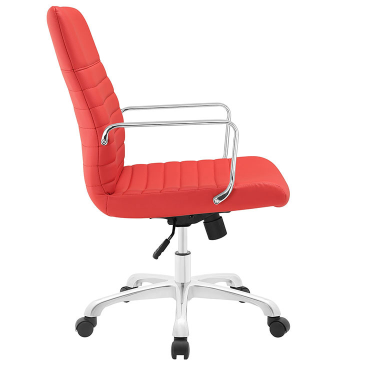 inspire mid back office chair red 2