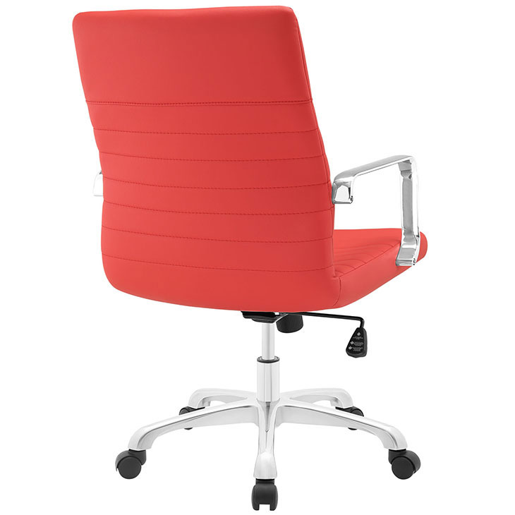 inspire mid back office chair red 3