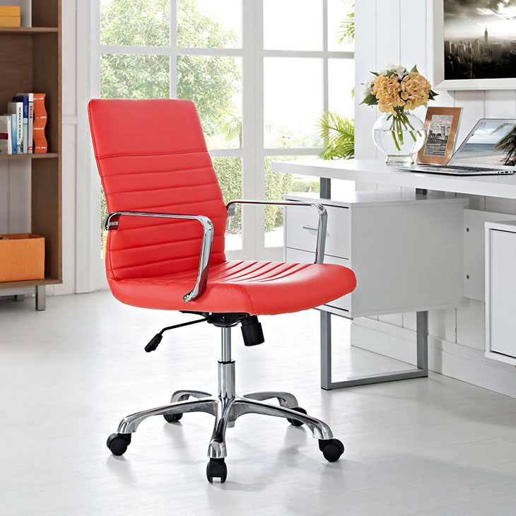 inspire mid back office chair red 4