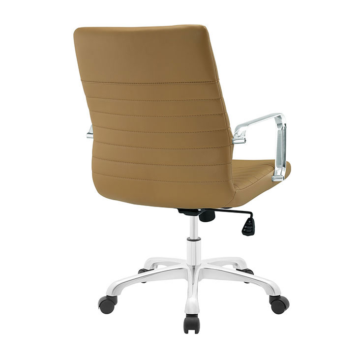 inspire mid back office chair tan 3