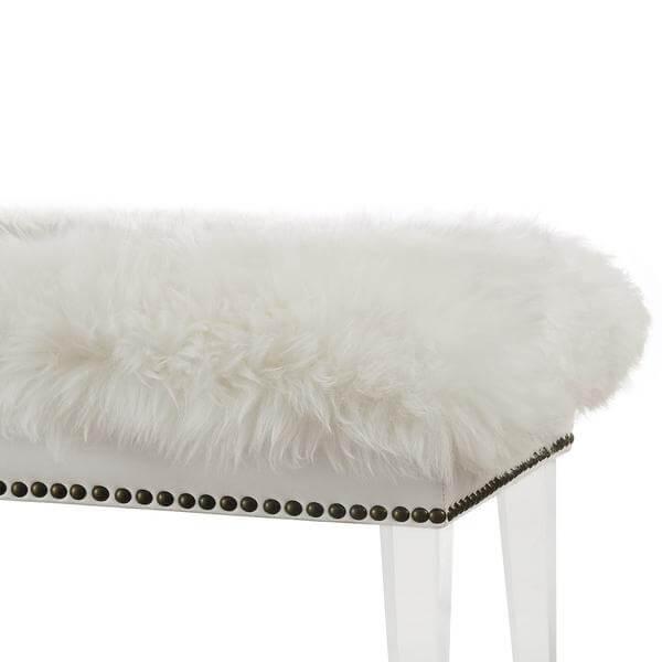 sheepskin puff bench 4