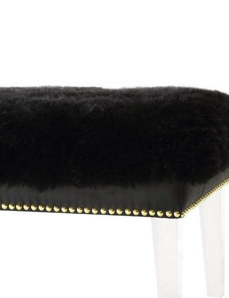 sheepskin puff bench black 3 461x600