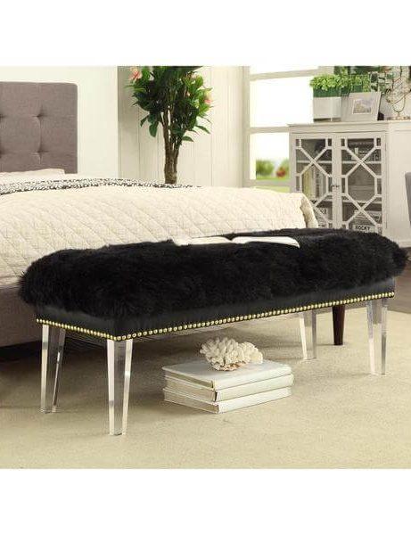 sheepskin puff bench black 4 461x600