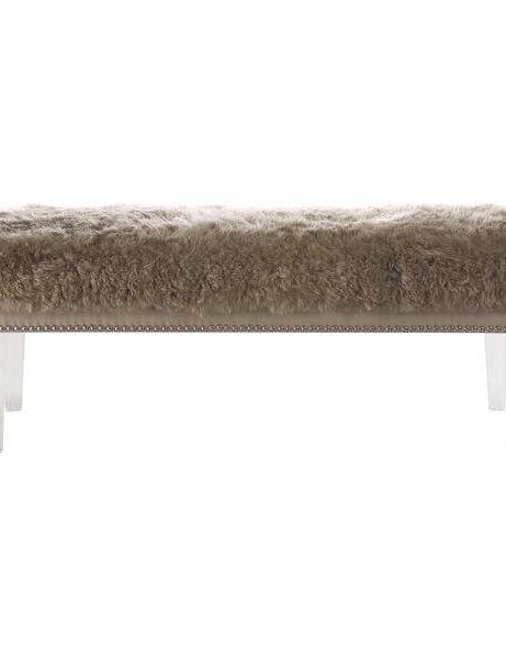 sheepskin puff bench taupe 2 461x600