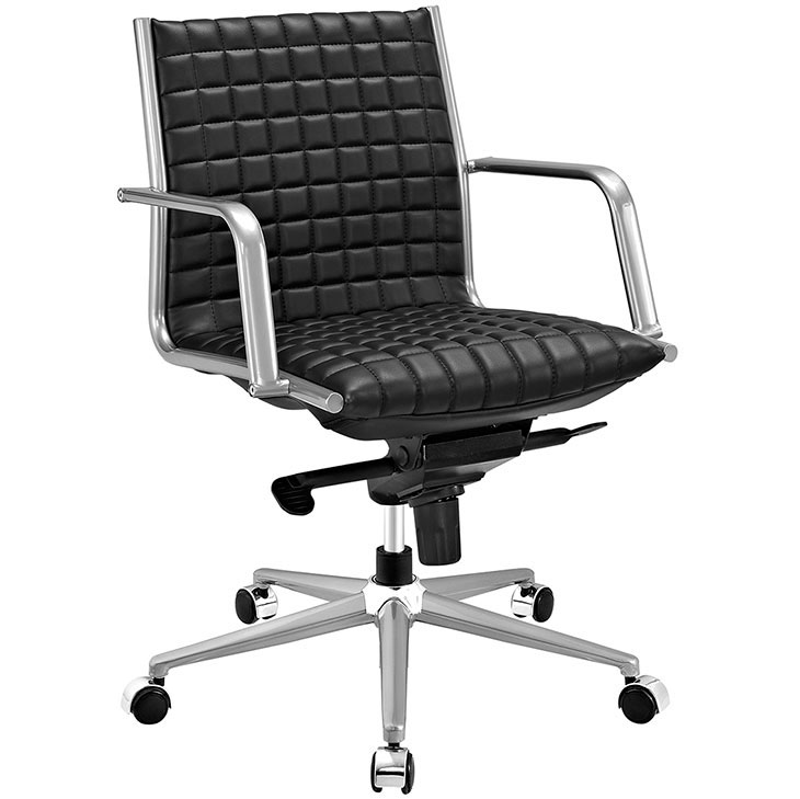 stock mid back office chair black 1
