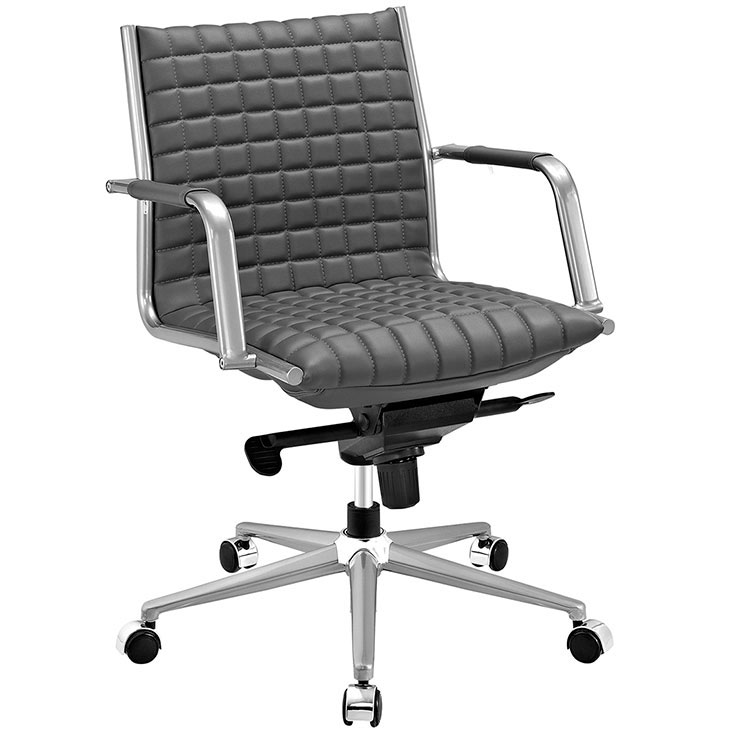 stock mid back office chair gray 1