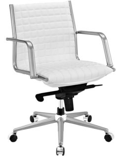 stock mid back office chair white 237x315