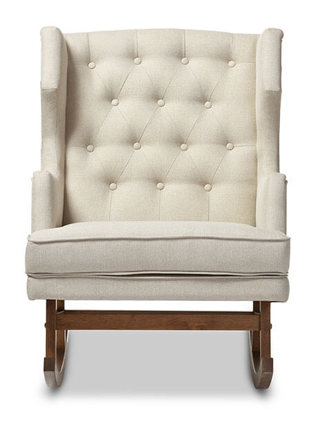 tufted winback rocking chair