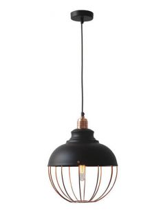 Copper Spin Pendant Light 1 237x315