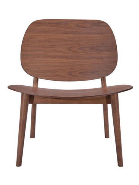 Fleet Walnut Wood Accent Chair