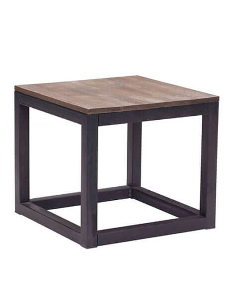 Troop wood side table