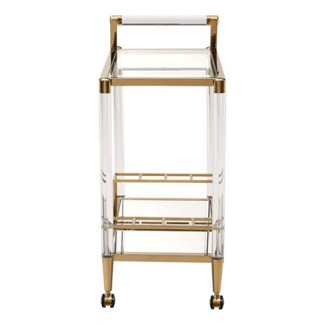 clear acrylic gold bar cart 1