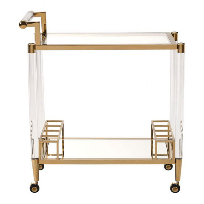 clear acrylic gold bar cart 2
