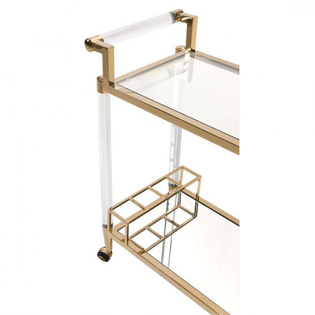 clear acrylic gold bar cart 3