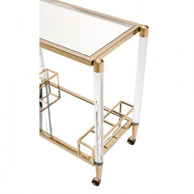 clear acrylic gold bar cart 5