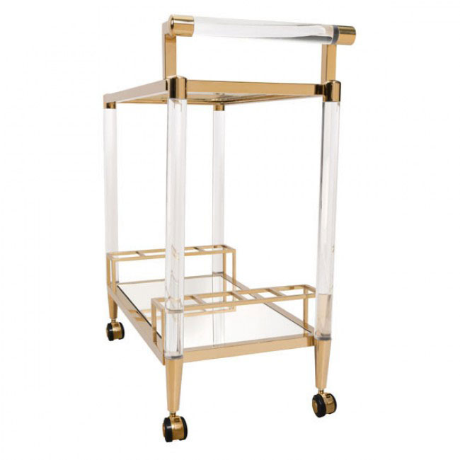 clear acrylic gold bar cart 6