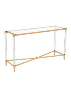 clear acrylic gold console table 237x315
