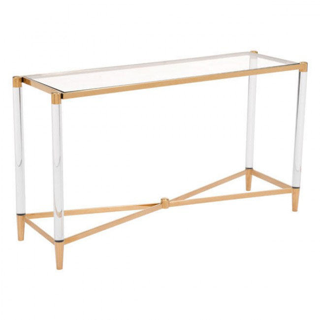 clear acrylic gold console table 3