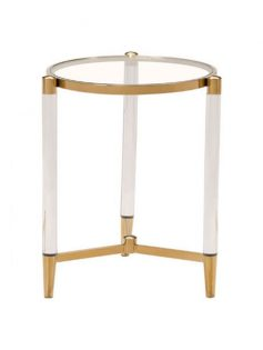 clear acrylic gold side table 237x315