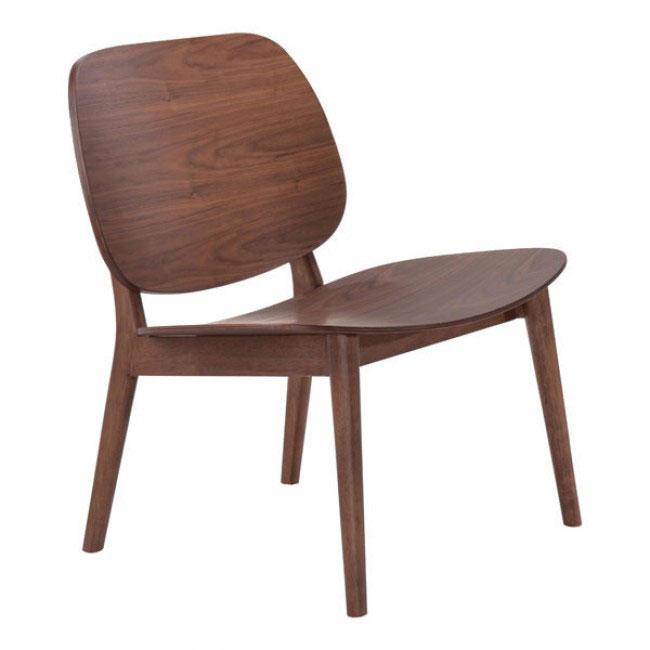 fleet walnut wood accent chair 1