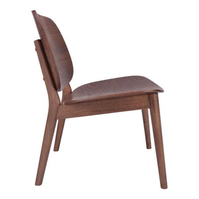 fleet walnut wood accent chair 2