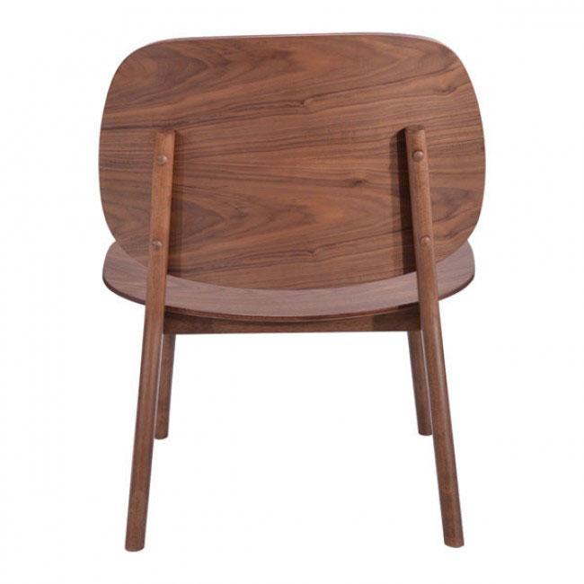 fleet walnut wood accent chair 3