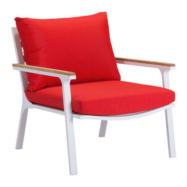 hills outdoor chair red 1