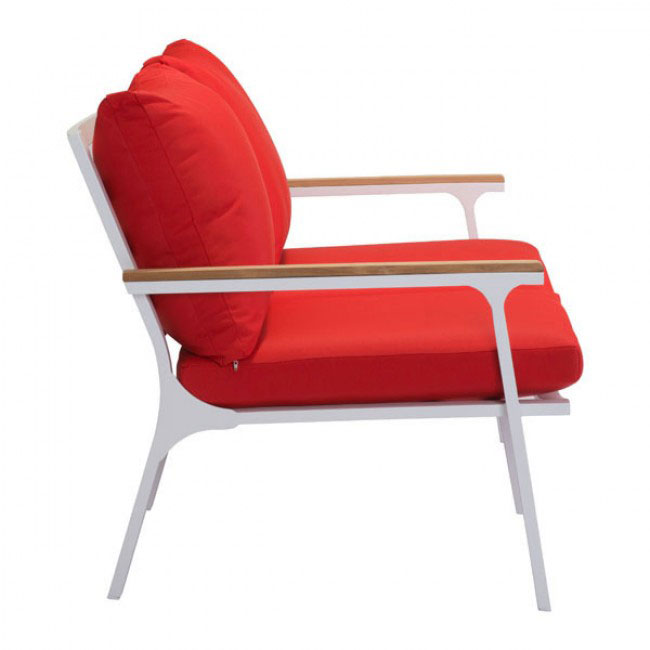 hills outdoor sofa red 1