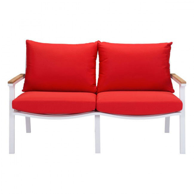 hills outdoor sofa red 2