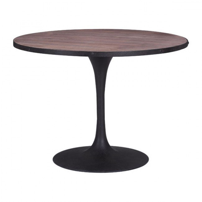 industrial wood dining table 1