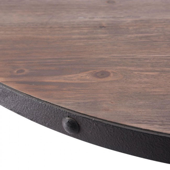 industrial wood dining table 2