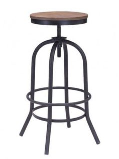 industrial wood swivel barstool 237x315