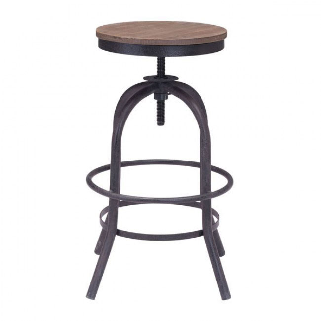 industrial wood swivel counter stool 1