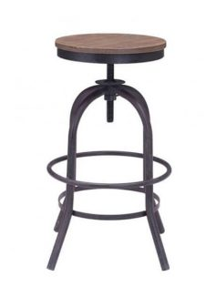 industrial wood swivel counter stool 237x315