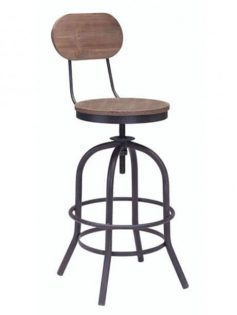 industrial wood swivel counter stool with back 237x315
